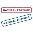 Natural Potence Rubber Stamps vector image vector image