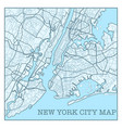 new york city blue poster vector image vector image