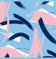 painted blue grunge stripes pattern violet labels vector image vector image