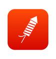 petard icon digital red vector image vector image