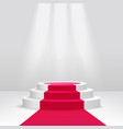 podium or pedestal with spotlight scene 3d vector image