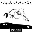 positive funny fish vector image