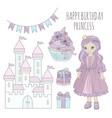 Princess birthday fairy tale cartoon