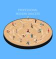 professional modern dancers isometric flowchart vector image vector image