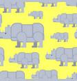 rhinoceros seamless pattern wild beast herd vector image vector image