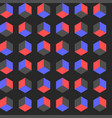seamless cube pattern gradient pop art vector image