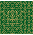 Seamless Damask Wallpaper 1 Green Color vector image vector image