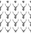 Seamless pattern with silhouette of deer head on vector image