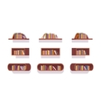 Set of retro bookshelves vector image vector image