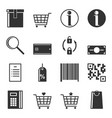 set of service icons in the store isolated vector image