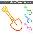 shovel symbol icon design vector image