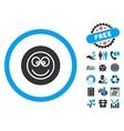 Smile Flat Icon with Bonus vector image