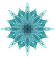 snowflake mandala for your creativity vector image vector image