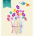 Social birds flowers background vector image vector image