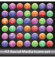 social media icons setround volume button vector image vector image