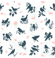 Songbirds seamless vector | Price: 1 Credit (USD $1)