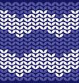 tile zig zag knitting pattern or winter background vector image