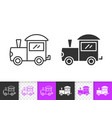 train baby toy simple black line icon vector image