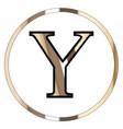 upsilon greek letter vector image vector image