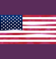 usa national flag flag of the united states of vector image vector image