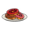 yummy sweet donut icon vector image vector image