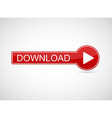 Red 3d button for website isolated on white vector image