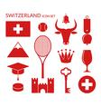 Switzerland Icon set vector image