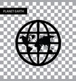 planet earth symbol vector image