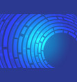 abstract blue line curve data light motion vector image vector image