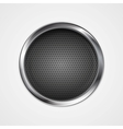 Abstract metal perforated circle background vector image vector image