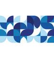 abstract modern blue geometric background vector image vector image