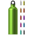 aluminium water bottle vector image vector image