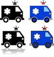ambulance icon set vector image