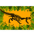 ancient dinosaur skeleton fossil flat vector image