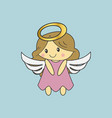 angel christmas cute angel vector image