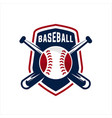aseball sport badge logo vector image
