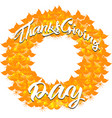 autumn banner from leaves for a thanksgiving day vector image vector image