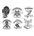 barbershop service pole haircut icons vector image