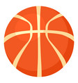 basketball ball icon cartoon style vector image vector image