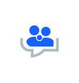 chat talk logo chat talk logo vector image vector image