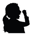 children silhouette figure in black color vector image vector image