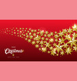 christmas and new year gold star design web banner vector image vector image