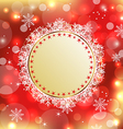 Christmas holiday background with greeting card vector image