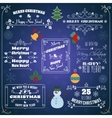 Christmas typographic labels set vector image vector image