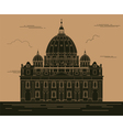 City buildings graphic template Saint Pyotr vector image vector image