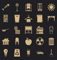 cleaning icons set simple style vector image vector image