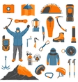 Climbing icons set vector image vector image