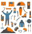 Climbing icons set vector image