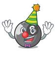 clown billiard ball mascot cartoon vector image