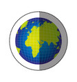 color gobal planet map icon vector image vector image